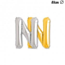 Balão Letra N Foil 81 cm