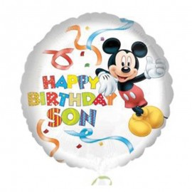 Balão Mickey Mouse Happy Birthday Son