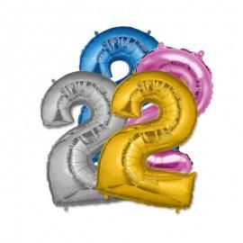 Balão Número 2 Foil 35 cm