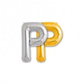 Balão Letra P Foil 81 cm