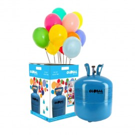 Garrafa de Hélio Pequena com 30 Balões