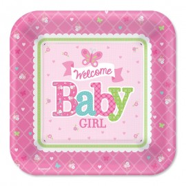 8 Platos Welcome Girl 26,6 cm