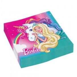 20 Guardanapos Barbie 33 cm