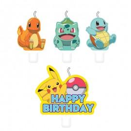 4 Mini Velas Pokémon 5.5 y 7.8 cm