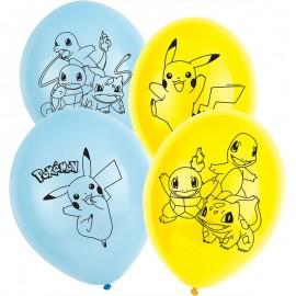 6 Globos Pokémon de Látex 28cm