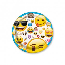 8 Pratos com Emoticoms 17,7 cm