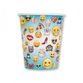 8 Vasos con Emoticonos