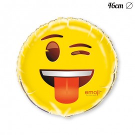 Globo Foil con Emoticono Guiño 46 cm