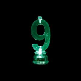 4 Velas y Número 9 con Luces Intermitente