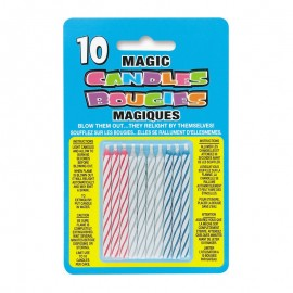 10 Velas Mágicas com Listras
