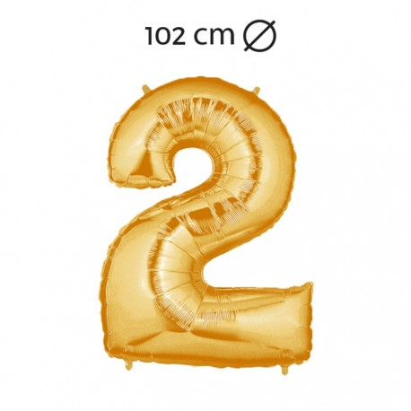 Globo Número 2 Foil 102 cm
