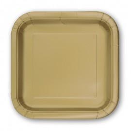 14 Pratos de Papel Quadrados 23 cm