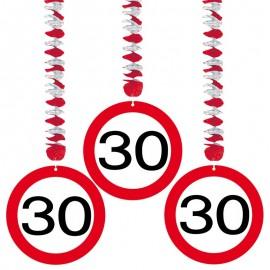 3 Decorativos Pendentes 30 Traffic