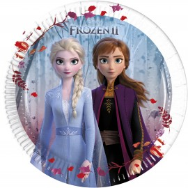 8 Platos Frozen 2 de Papel 20cm