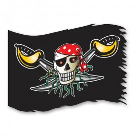 Bandera Calavera Pirata 90 cm x 60 cm