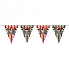 Bandeirolas Caveiras Pirata 10 metros