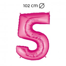 Globo Número 5 Foil 102 cm