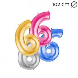Balão Número 6 Foil 102 cm