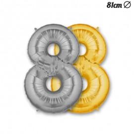 Balão Número 8 Foil 86 cm