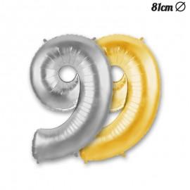 Balão Número 9 Foil 86 cm