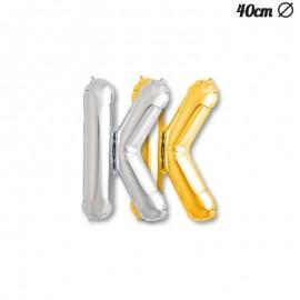 Globos con forma de Letra K 40 cm