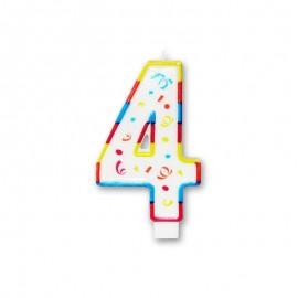 Vela Grande com Coloridos Número 4