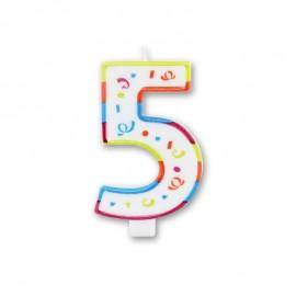 Vela Grande com Coloridos Número 5