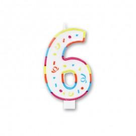 Vela Grande com Coloridos Número 6