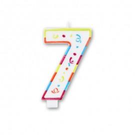 Vela Grande com Coloridos Número 7