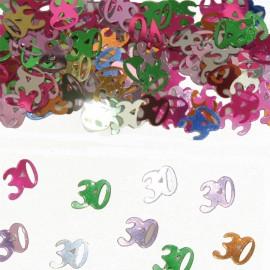 Confete Número 30 Multicolor