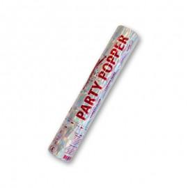 Canhão de Confete Prateado 28 cm