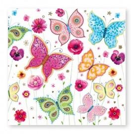 20 Servilletas con Mariposas 33 cm