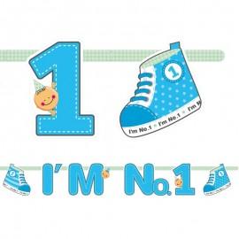 Bandeirola I'm Nº1 Menino 16 x 110 cm