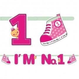Banderin I'm Nº1 Niña 16 x 110 cm