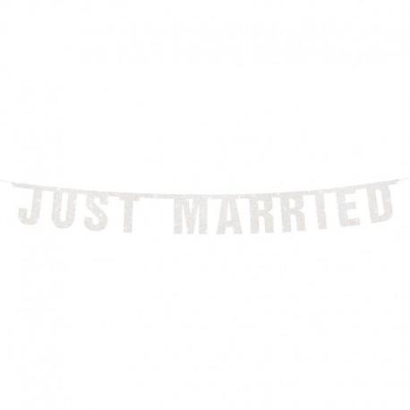 Banderín Recién Casados 18 x 170 cm