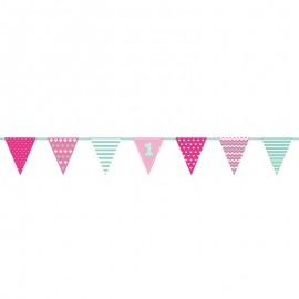 Banderines 1 º Cumpleaños Niña 1,35 m