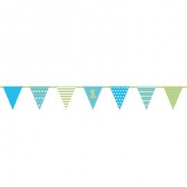 Bandeirolas 1º Aniversário Menino 1,35 m
