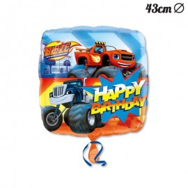 Globo Foil Happy Birthday Blaze 43 cm