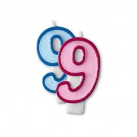 Vela Aniversário nº9