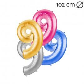 Balão Número 9 Foil 102 cm