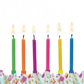 6 Velas Varios Colores para Cumpleaños