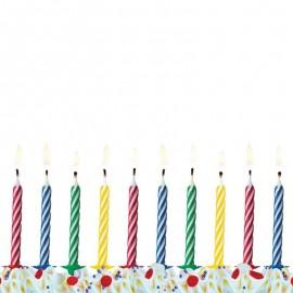 10 Velas para Aniversário com Listras