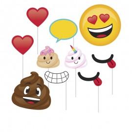 10 Acessórios Photocall de Caca Emoticonos