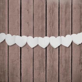 Grinalda forma Coração de Papel 11 cm x 3 mts