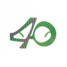 Óculos para Aniversário Número 40