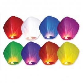 10 Lanternas Voadoras Várias Cores