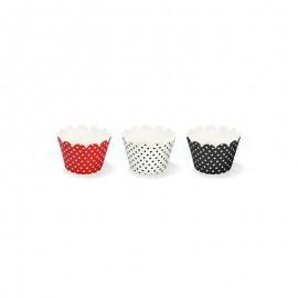 6 Formas Cupcake com Bolinhas 7,5 x 5 cm