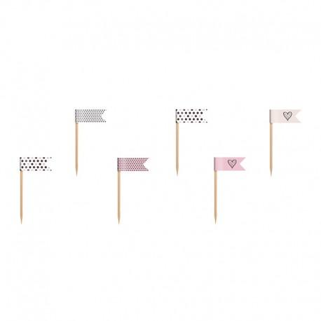 6 Palitos com Bandeirinhas com Vários Desenhos