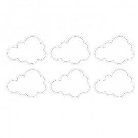 6 Pegatinas forma Nube