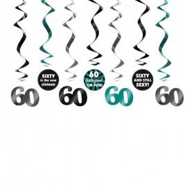 7 Colgantes 60 Cumpleaños